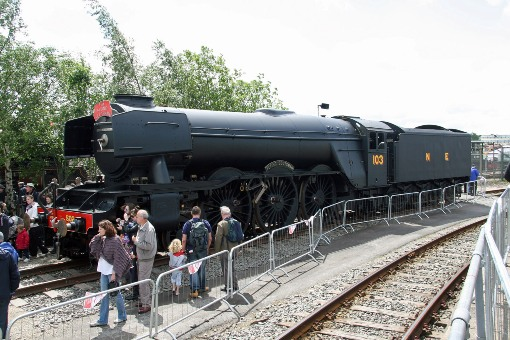 Flying Scotsman at Railfest courtesy of Cliff Thomas