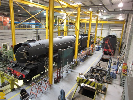 Flying Scotsman in the NRM Workshops at York courtesy of Phil Marsh.