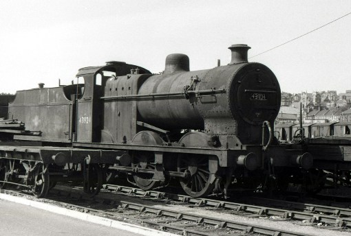 Fowler 4f-No. 43924-at Barry in 1971 Phil Marsh collection