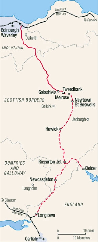 Borders Route Map courtesy of Phil Marsh
