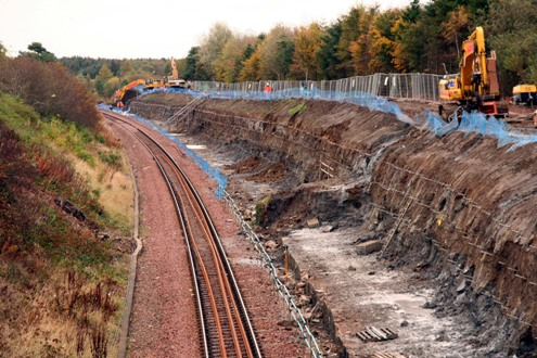 Bathgate Line construction works courtesy of Phil Marsh