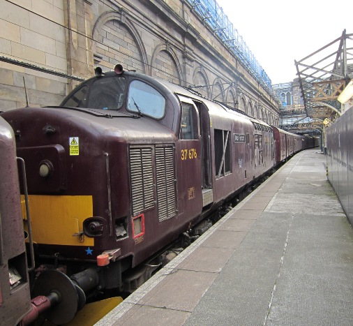 Edinburgh charter train courtesy of Phil Marsh