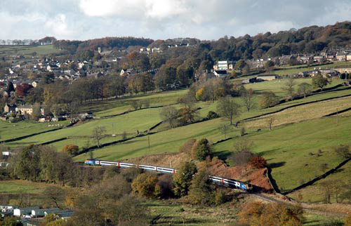 The railtour in the Worth Valley courtesy of Paul Bickerdyke