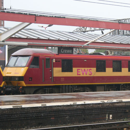 Class 90 Electric at Crewe