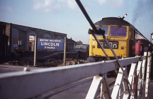 1970 Crossing at Lincoln courtesy of Phil Marsh