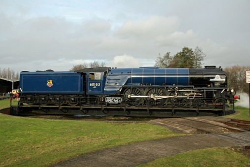 Didcot Tornado in blue 25 November 2012 coutesy of Cliff Thomas