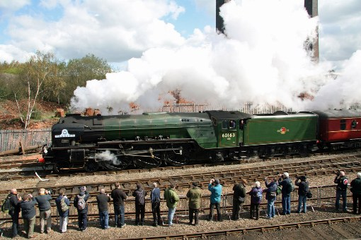 Tornado BR green Barrow Hill 15 April 2012 Cliff Thomas