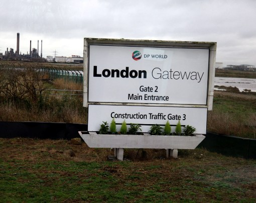 DP World London Gateway Entrance courtesy of Phil Marsh
