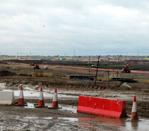 Preparing the Trackbed at DP World London Gateway courtesy of Phil Marsh.
