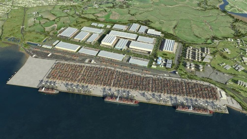Proposed Port from DP world London courtesy of Phil Marsh
