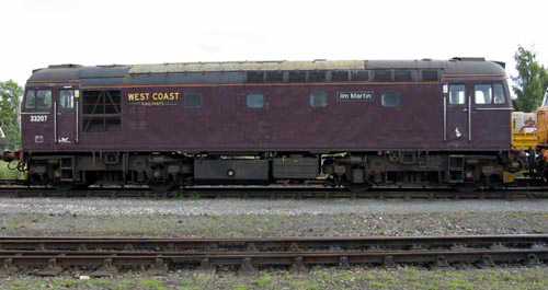 West Coast Railway's No. 33207 Jim Martin courtesy of Paul Bickerdyke