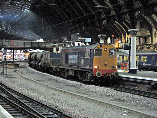 Class 20 No. 20312 heading a RHTT working at York courtesy of Paul Bickerdyke