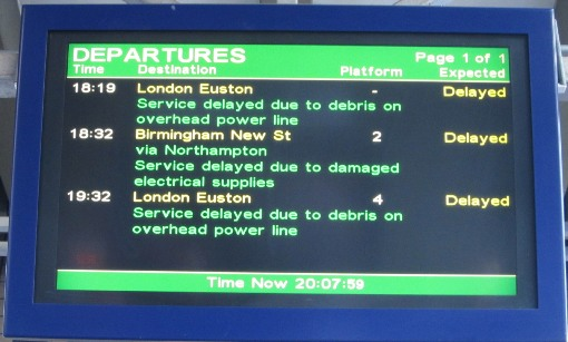 WCML delays courtesy of Phil Marsh