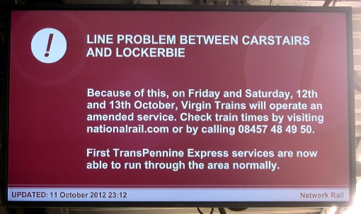 Scottish WCML delays courtesy of Phil Marsh