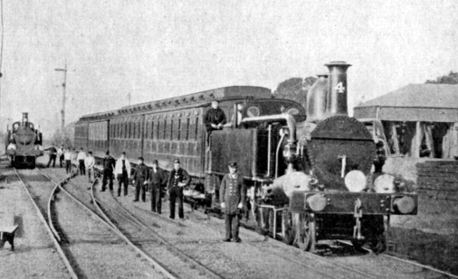 Metropolitan Line Opening in 1863 cropped courtesy of Phil Marsh collection
