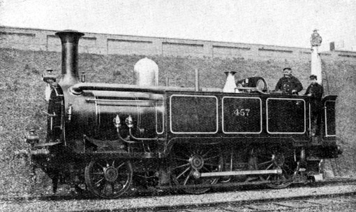 GWR Condensing Tank No 457 at Earls Court in 1876 as Used When in 1863 courtesy of the Phil Marsh Collection