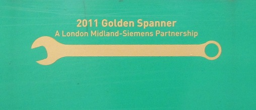 Gold Spanner Award courtesy of Phil Marsh