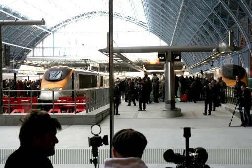 14 November 2007 Eurostar First Day at St Pancreas courtesy of Phil Marsh