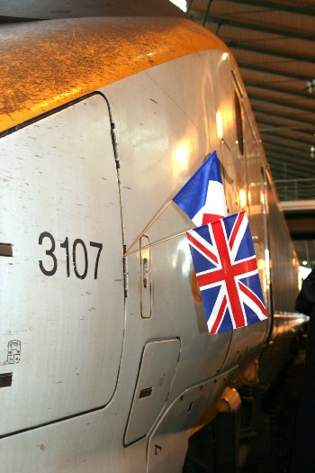 First Train from St Pancreas Arrives on 14th November 2007 at Paris courtesy of Phil Marsh