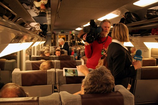 First Train TV Crews courtesy of Phil Marsh
