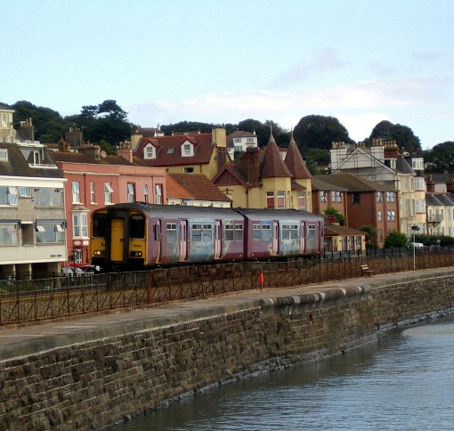 Train at Dawlish courtesy of Phil Marsh