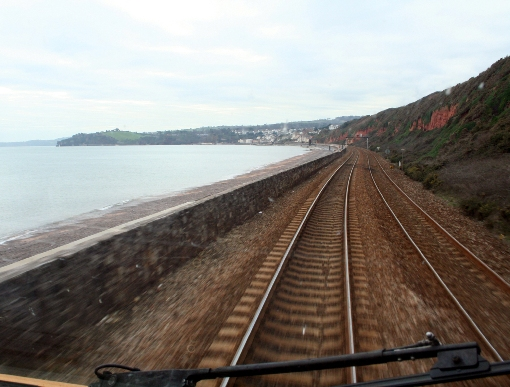 Drivers Eye view of the Dawlish Sea Wall courtesy of Phil Marsh
