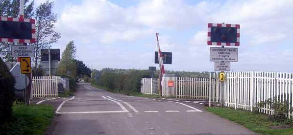 Ufton crossing courtesy of RAIB
