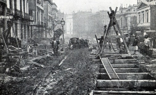 1866 Street Disruption Building the Metropolitan Line courtesy of Phil Marsh