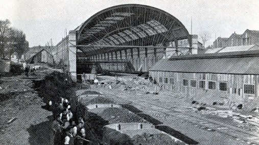 1867 Kensington trainshed being built courtesy of Phil Marsh