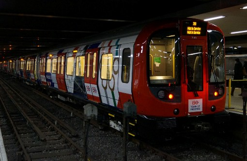 New Metropolitan Line Train Specially Decorated with 150 anniversary exterior courtesy of Nick Hair