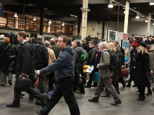 Passengers at Euston courtesy of Phil Marsh