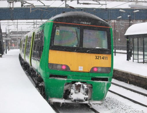 A class 321 coupling covered in snow courtesy of Phil Marsh