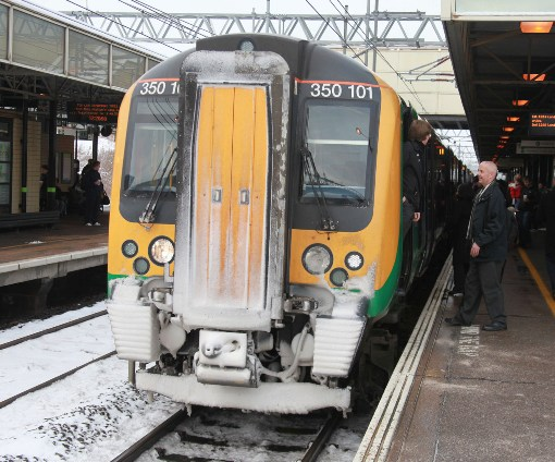Snow on a class 350 courtesy of Phil Marsh
