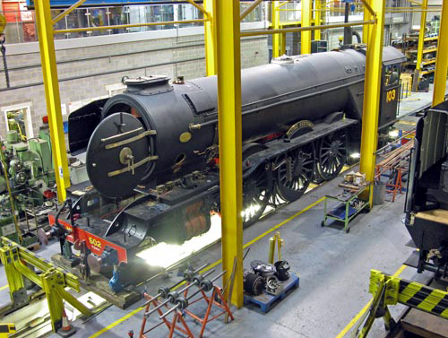 Flying Scotsman in the Works at York NRM courtesy of Paul Bickerdyke
