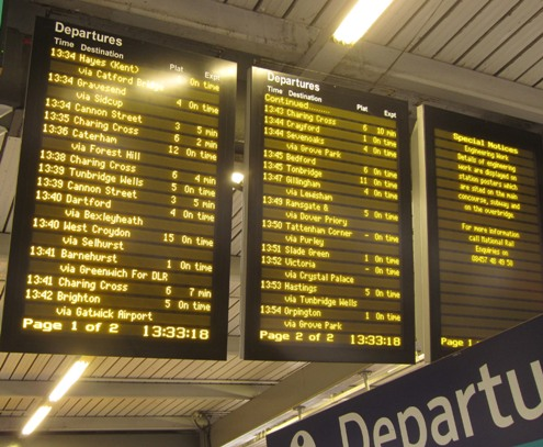 Some of the many London Bridge departures courtesy of Phil Marsh
