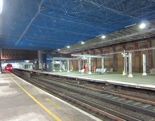 London Bridge platform works begin inside the Victorian Trainshed courtesy of Phil Marsh