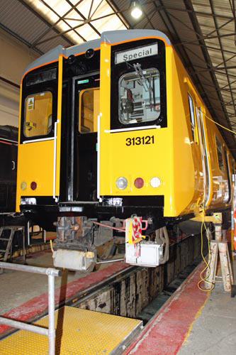 No. 313121 will be used to test ERTMS kit on the Hertford loop courtesy of Phil Marsh