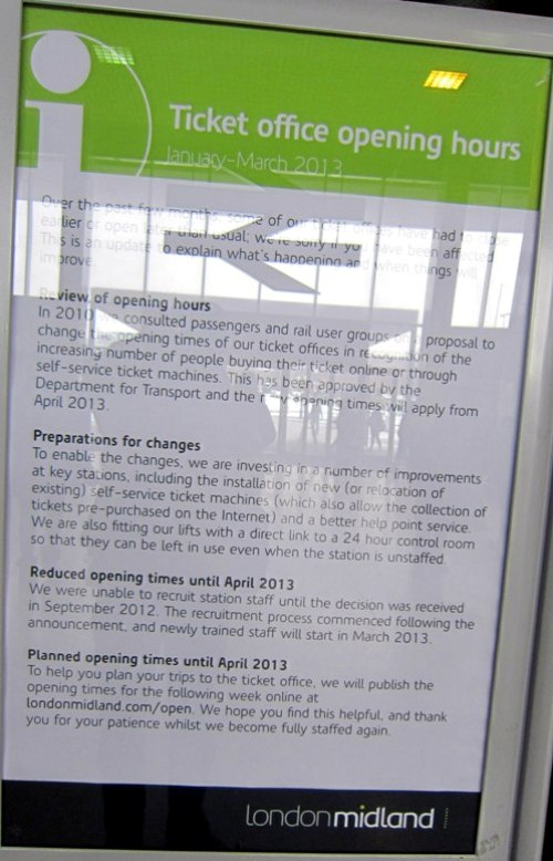 9 london midland staff shortages courtesy of Phil Marsh