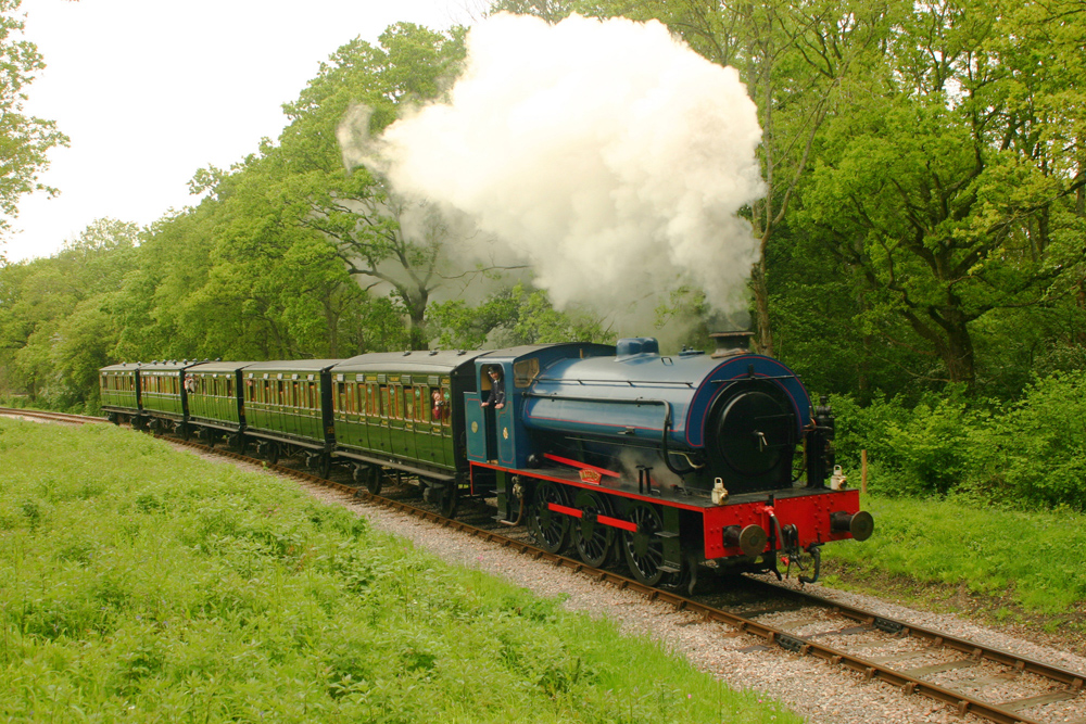 Waggoner Austerity engine leaving Smallbrook for Havenstreet