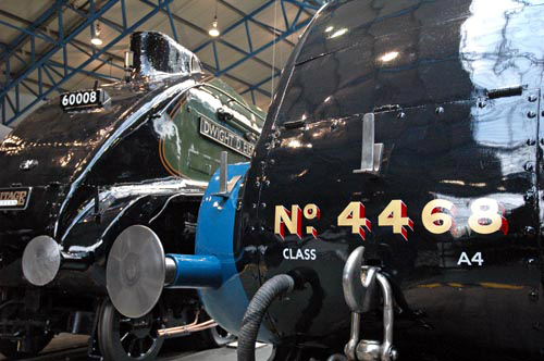 Close-up on Nos. 60008 and 4468 at the NRM courtesy of Paul Bickerdyke