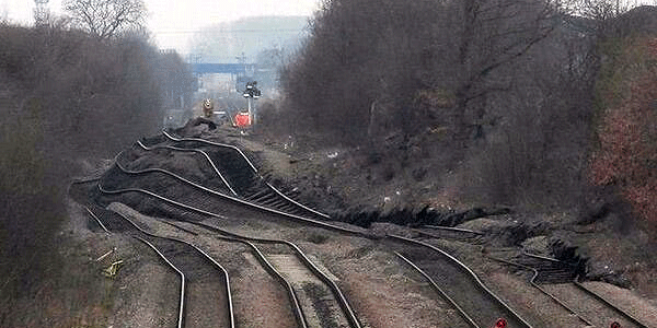 stainforth landslip from Network Rail