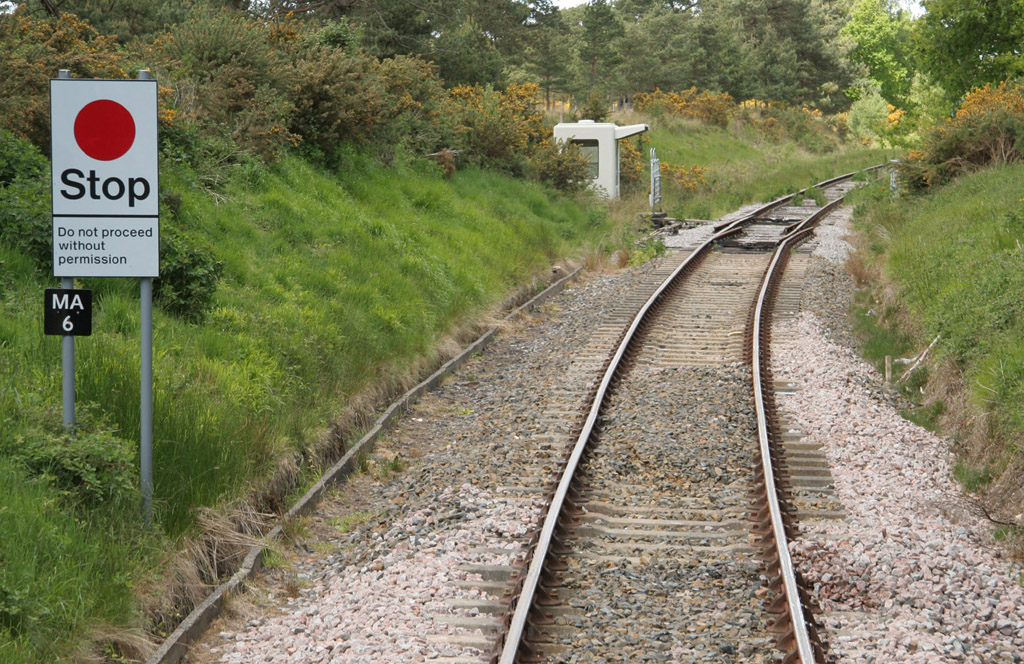 swanage boundary with Network Rail  by Phil Marsh