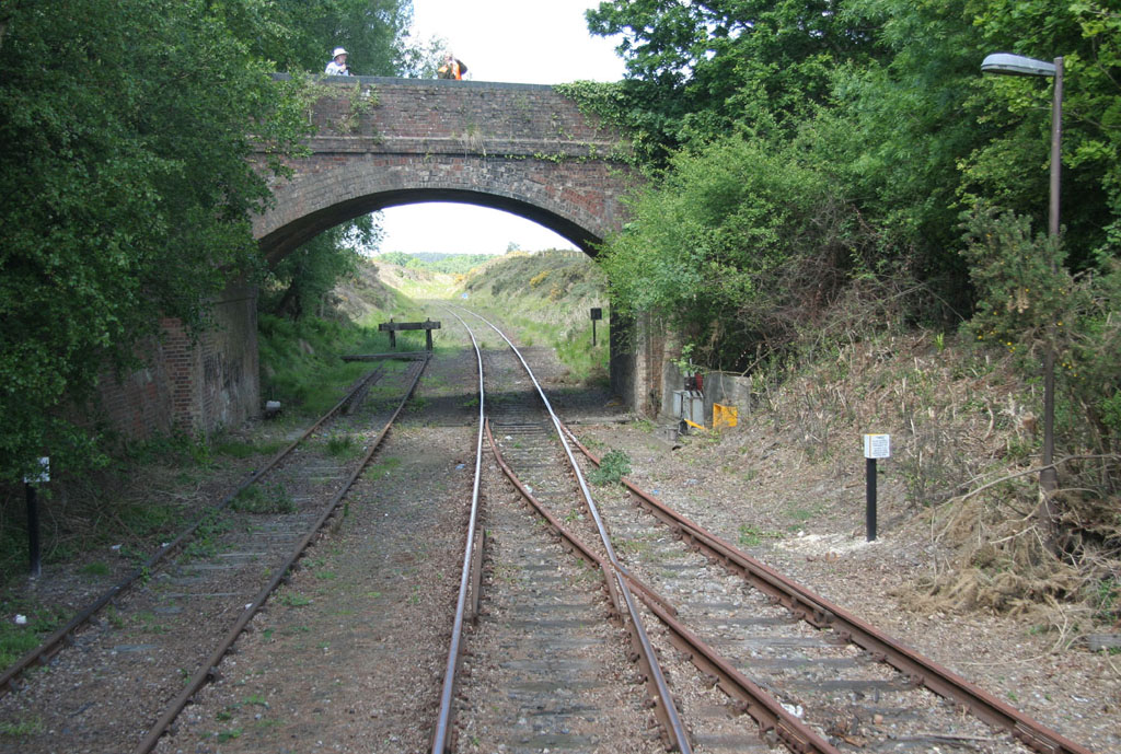 Swanage Railway at Furzebrook  by Phil Marsh