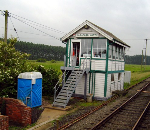 Portable toilet at a signalbox courtesy of Phil Marsh