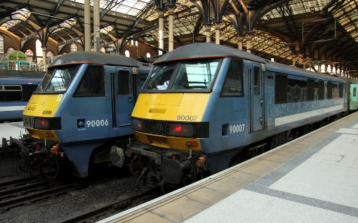 Greater Anglia class 90s at Liverpool Street courtesy of Phil Marsh