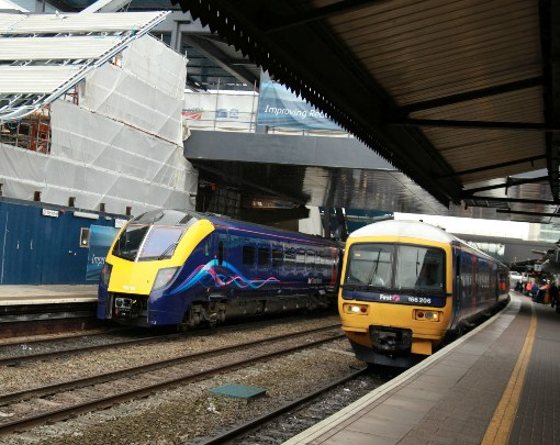 FGW trains at Reading courtesy Phil Marsh