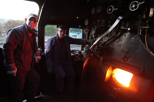 6233 on the footplate courtesy of Phil Marsh
