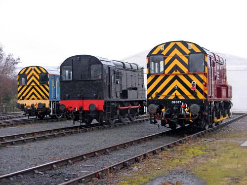 9. The end of day line up with Nos. 08911, 08064 and 09017. Courtesy Paul Bickerdyke