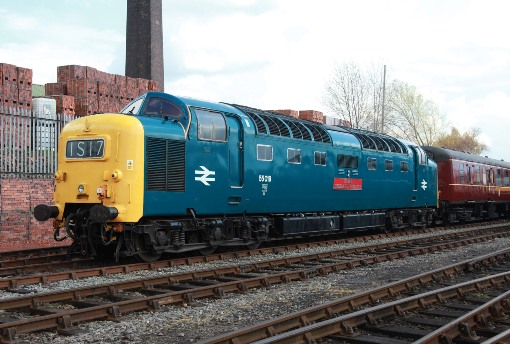 7 deltic at barrow hill courtesy of phil marsh