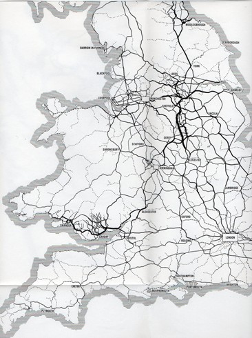 Beeching map density of freight traffic courtesy of the Phil Marsh collection